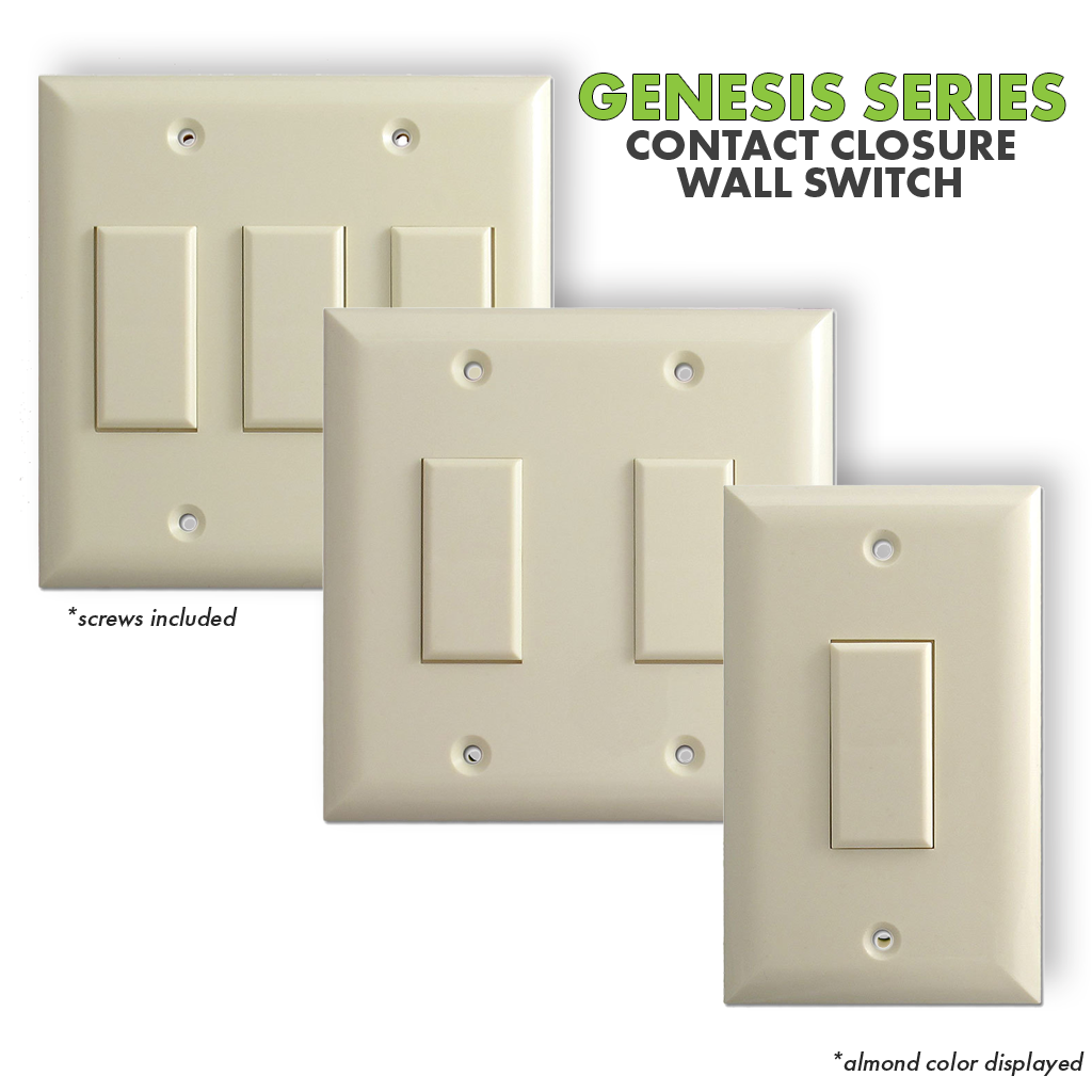 Genesis Series | Contact Closure Wall Switch | Set Photo