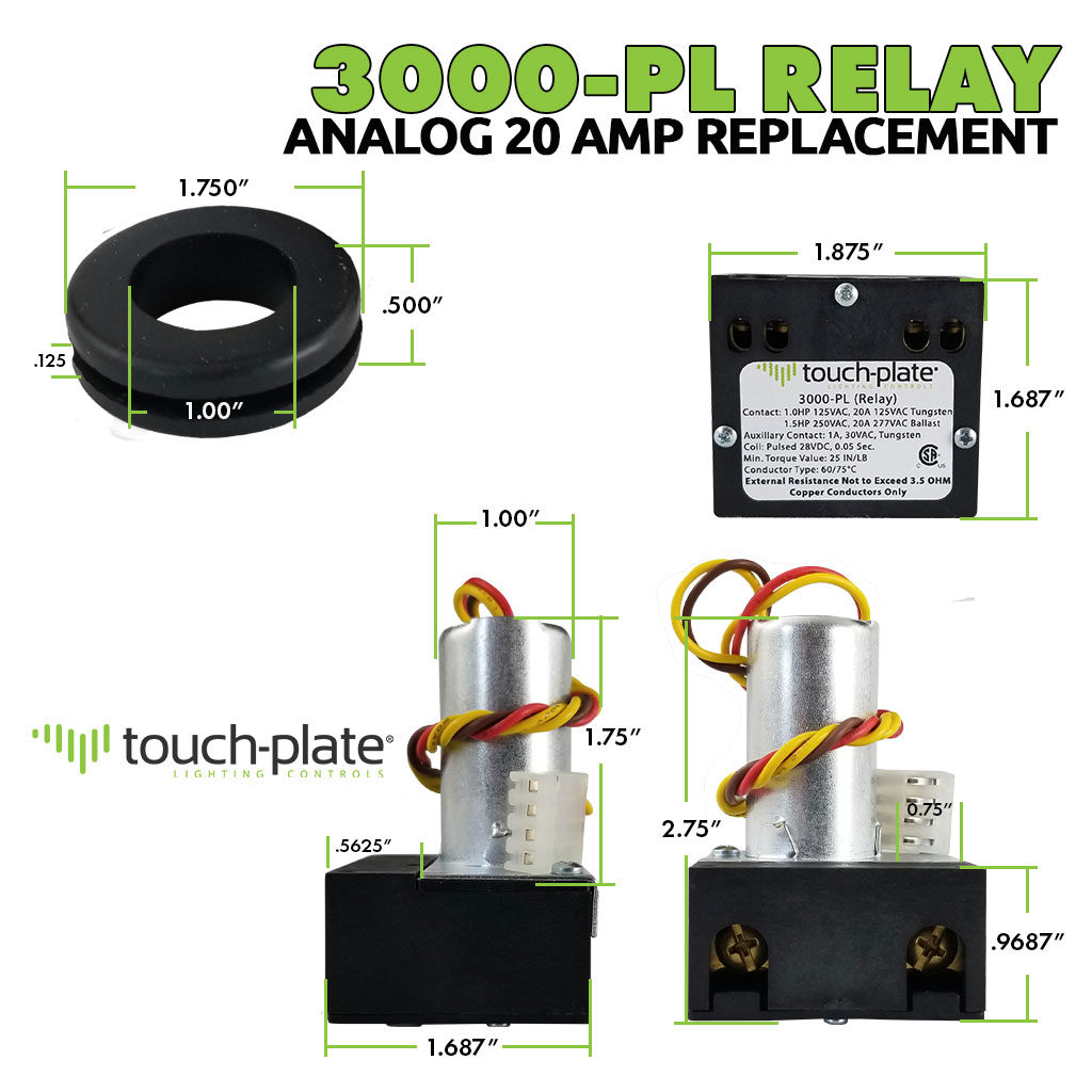 3000-PL Relay | 4-Wire Analog Relay | Dimensions