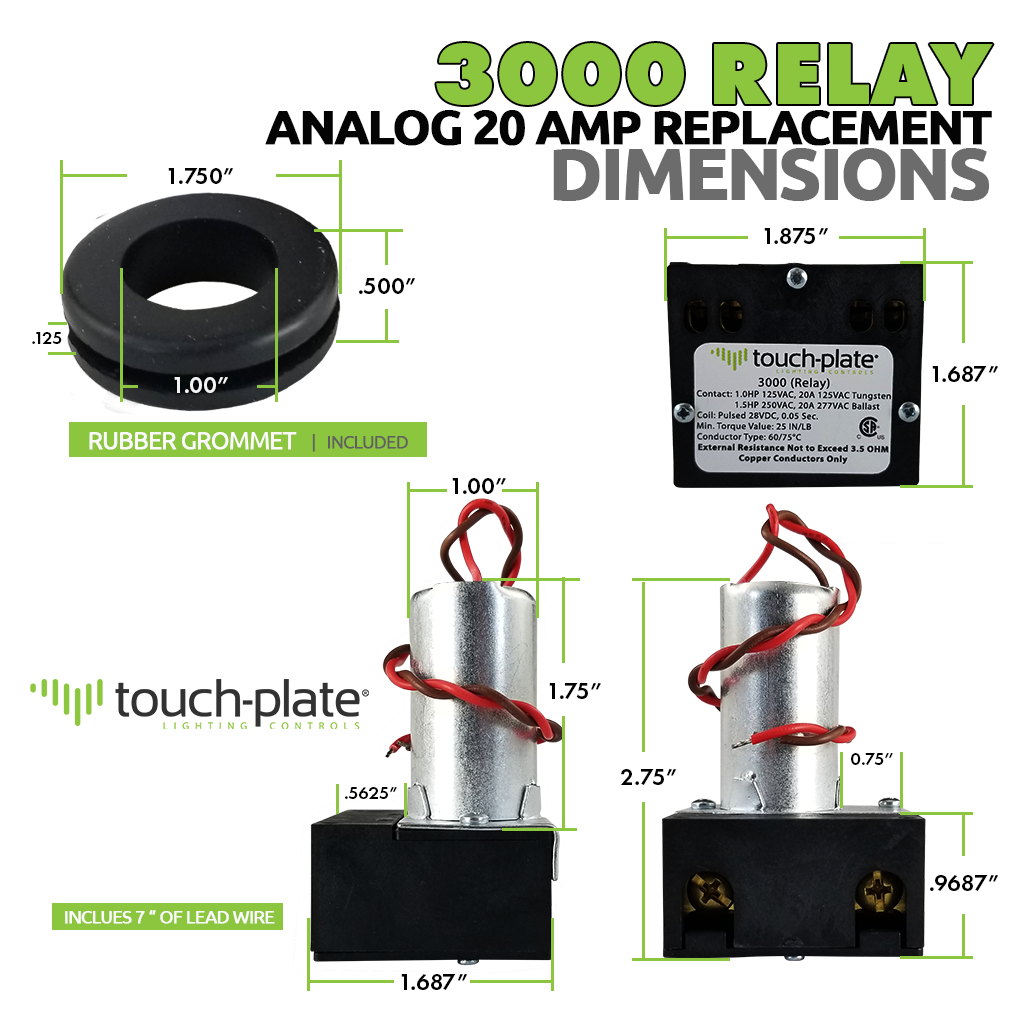 3000 Relay | 2-Wire Analog Relay | Dimensions