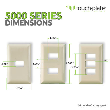 5000 Series Replacement Covers   Product Dimensions