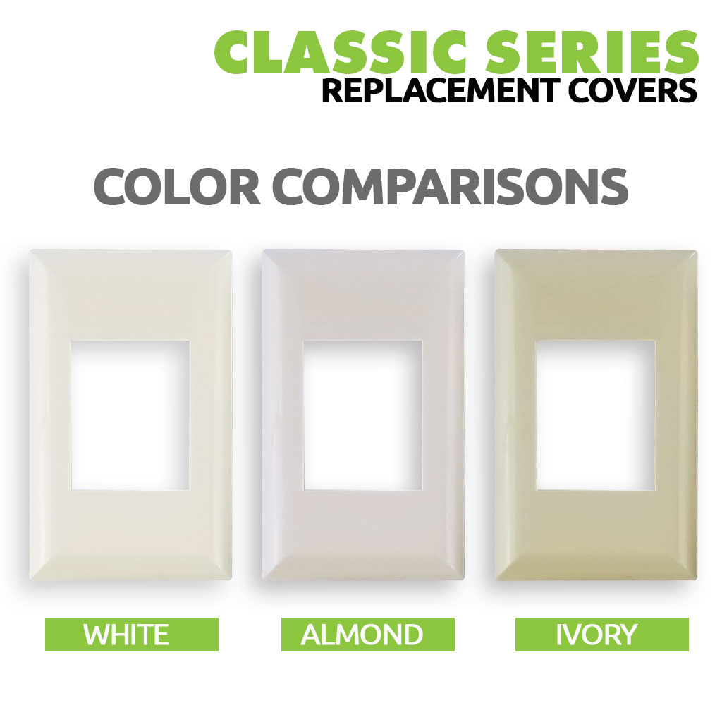 Classic Series Wall Switch | Cover Plate | Color Choice