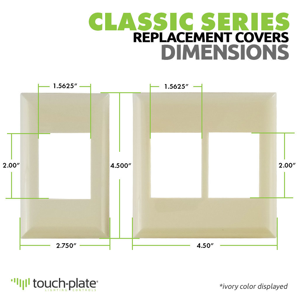 Classic Series Wall Switch | Cover Plate | Dimensions