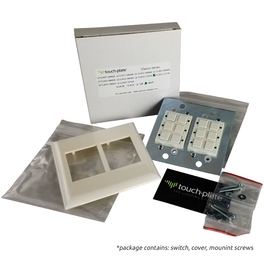 Classic Series Wall Switch | Low-voltage Contact Closure Switches | Package Contents
