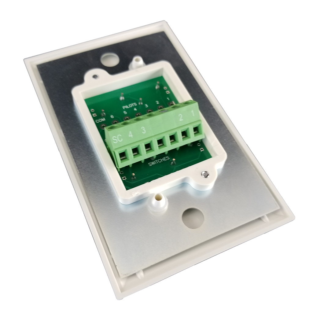 Classic Series Wall Switch | Low-voltage Contact Closure Switches | 3/4 Back View