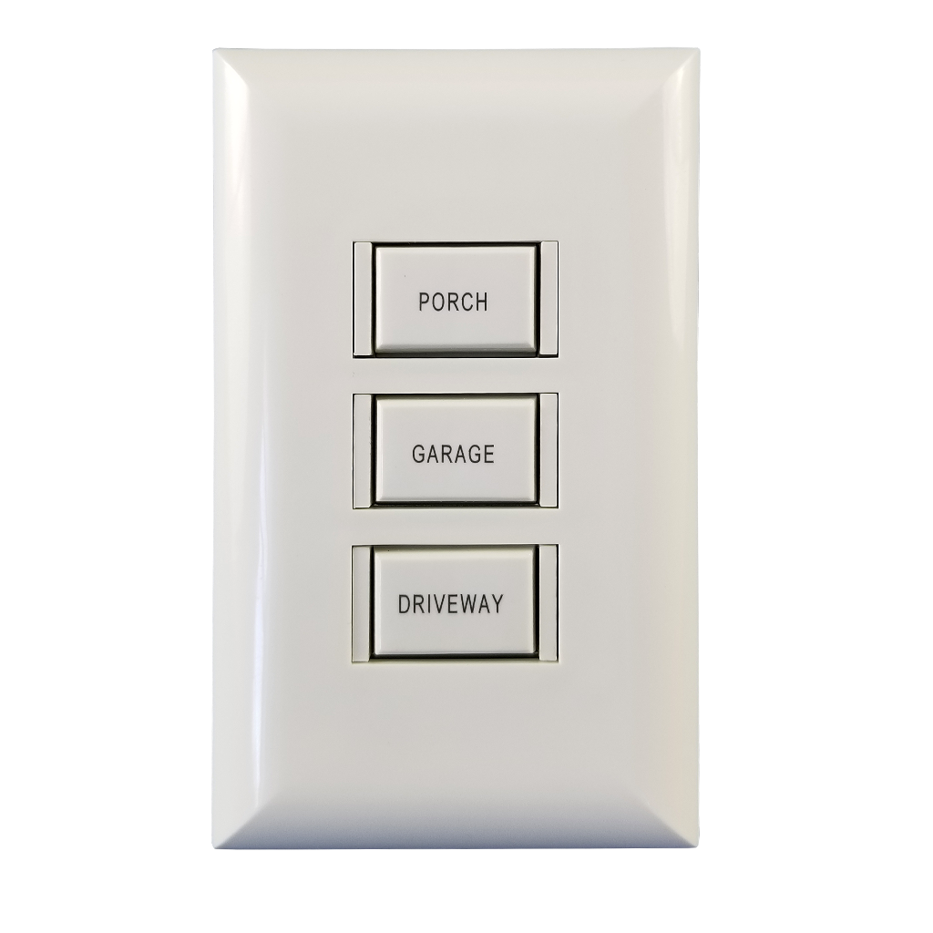 Engraved 5000 Series Switch | 3 Button | White