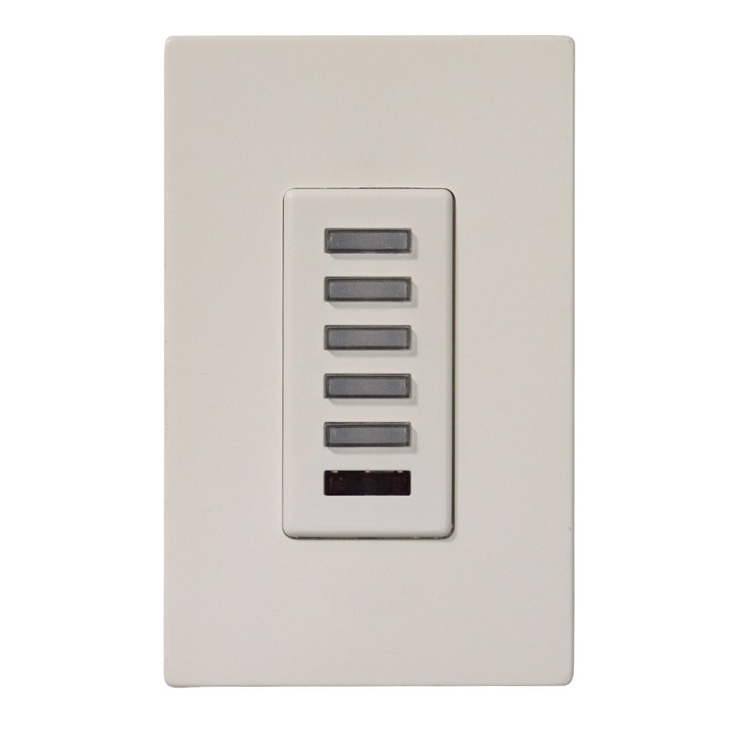 Consensio Series Wall Switch   Low-voltage Contact Closure Switches   White, 5-Button, 5 LED