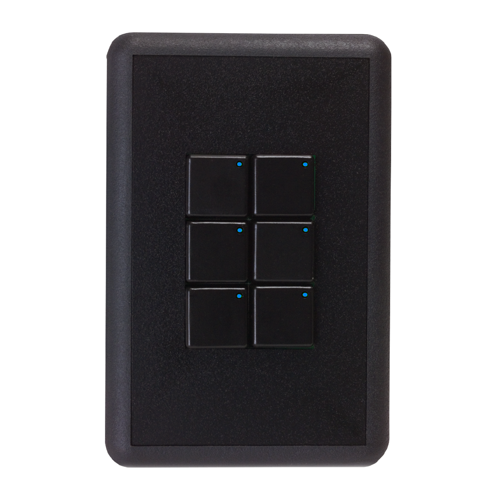 Royal Series Wall Switch | Low-voltage Contact Closure Switches | White, 6-Button, 6 LED | With Engraved Buttons