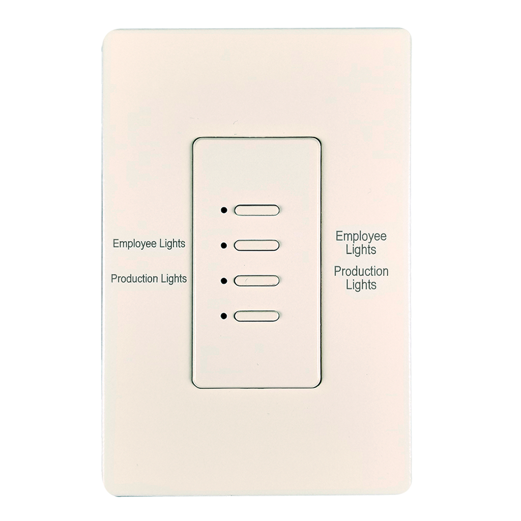 Ultra Series Wall Switch | Low-voltage Contact Closure Switches | White, 4-Button, 4 LED | Engraved | BACnet | 2-Wire | 5-Wire | IGOR
