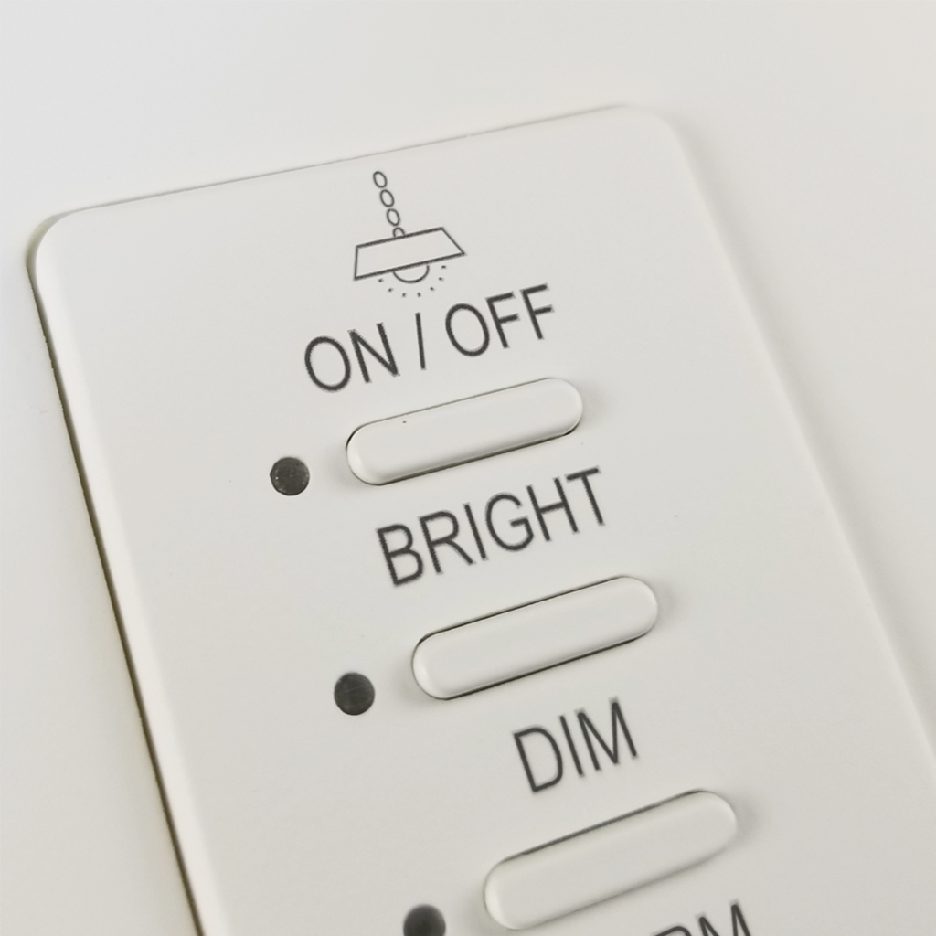 Ultra Series Wall Switch | Low-voltage Contact Closure Switches | White, 4-Button, 4 LED | Engraved